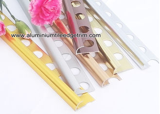 China Quarter Round Aluminium Tile Edge Trim For Outside Corner Tile Edge Protection supplier