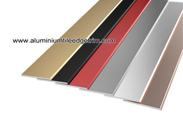 China Flat Tile Trim / Metal Decorative Transition Strips For Wall Tile Separation supplier