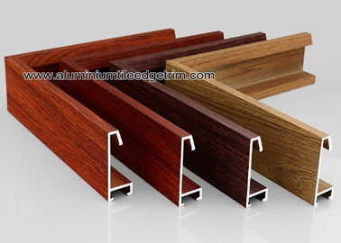 China Custom Wood Grain Copy Aluminium Picture Frame Mouldings Profiles supplier