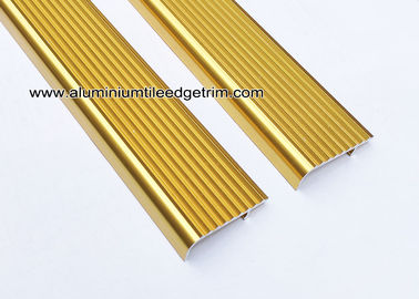China Embedding Aluminum Stair Edge / Edging  With  Shiny Golden 45mm x 15mm supplier