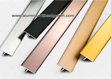 China Shiny Colored Aluminium T Shaped Divider Trim / Decorative Strip supplier