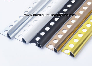 6mm / 8mm / 10mm / 12mm Quarter Round Aluminium Tile Edge Trim  For Tile Walls