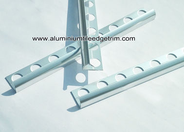 China 10mm Chrome Quadrant Aluminium Tile Edge Trim Around Window / For Bathroom Tiles supplier
