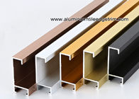 China Metal Type Aluminium Wall Picture Frame Mouldings With Brushed Sides factory