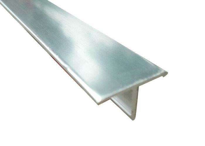 Anti Corrosion Laminate Floor Edge Profile Trims Aluminium T Shaped Dividing Type