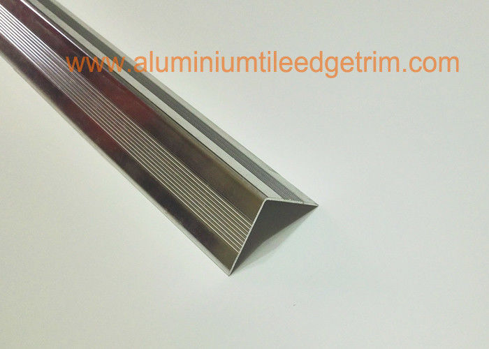 Right Angle Shaped Aluminium Metal Stair Nosing For Concrete Steps Long  Lifespan