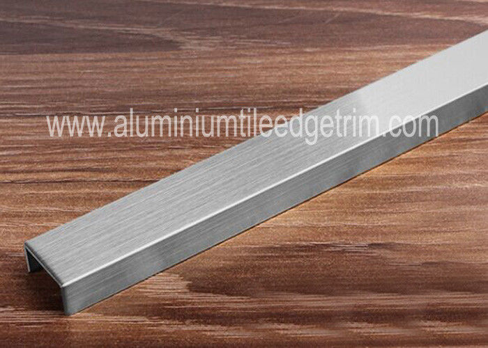 Brushed Stainless Steel Tile Trim Border Edge Background Wall Decoration
