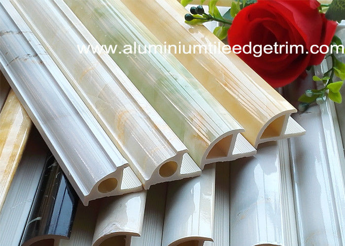 Round Shape Pvc Bullnose Tile Edging Trim Marbling Color Weather Resistant
