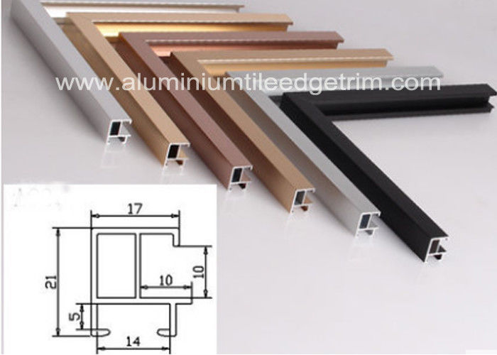 Different Size Aluminium Picture Frame Mouldings Sections Anodized ...