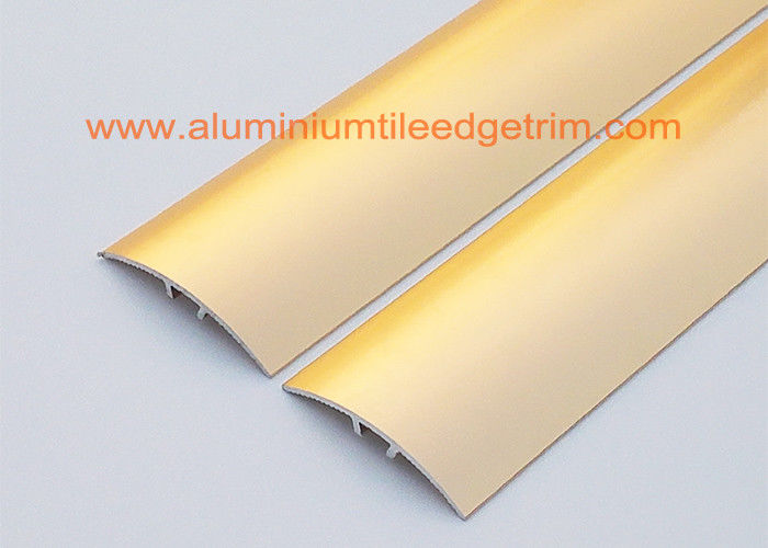 Sand Gold Metal Aluminium Floor Trim For Doorway Threshold Floor