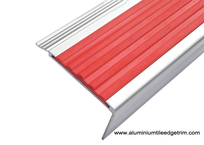 Superieur Highly Robust Aluminum Stair Nosing , Metal Stair Edge Trim With PVC Inlay