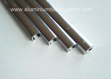 Narrow Aluminium Channel Profiles Finishing Edge Anodized Polished Silver Effect