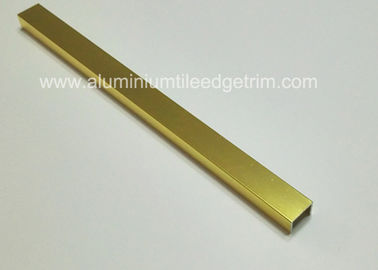Shiny Gold Listello Tile Trim Aluminium Material Decorative Strip 15mm X 10mm