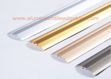 Long Durability Aluminium Floor Trims Cover Strip For Laminate / Doorway