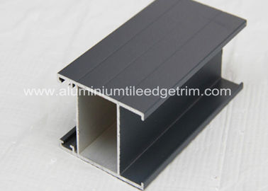 Black Anodised Aluminium Window Profiles Frames , Aluminum Window Extrusion Profiles