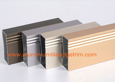 Anodized 6063 - T5 Aluminum Extrusion Profiles Rectangular Hollow Shaped