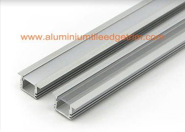 Matt Silver Aluminum Square Tubing , LED Profile Aluminium Channel For Led Strip Lighting