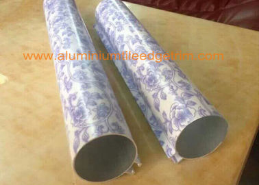 Powder Coating Round Aluminum Extrusion Profiles Marble Grain Color 8-15HW Hardness