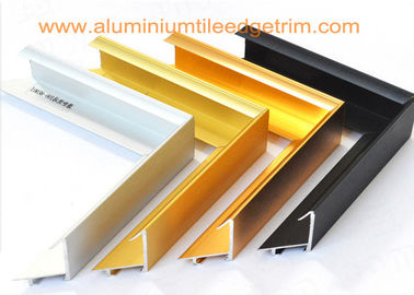 Brushed Aluminium Picture Frame Mouldings , Aluminium Picture Frame Extrusions