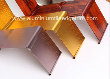 Gold Brushed Metal Skirting Trim , Aluminium Skirting Duct For Hotel And Office