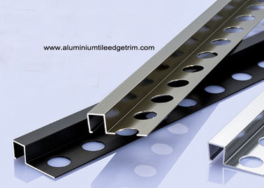 10mm Square Box Aluminium Tile Edge Trim Polished And Anodized