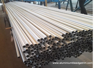 China Weather Resistance Round Aluminum Extrusion Profiles 6061 6063 7075 Anodized Silver factory