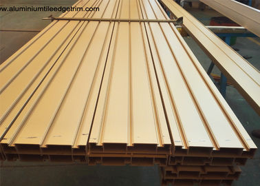 Elegant Ti Gold Aluminium Door Profiles / Heavy Sliding Door Outer Frame Extrusions