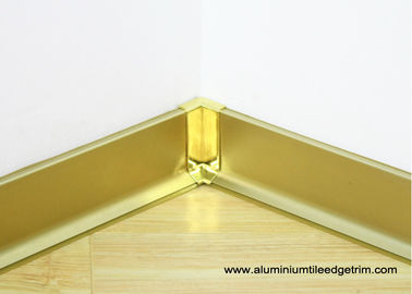 China Commercial Aluminium Metal Skirting Board With Shine Gold Waterproof factory