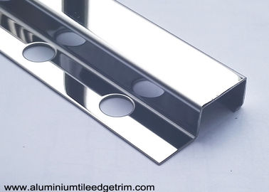 Spainish Square Edge Stainless Steel Tile Corner Trim With 8K Mirror Effect