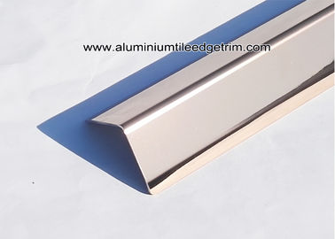 Mirror Effect Rose Gold Stainless Steel Wall Corner Guards For Commercial Buildings