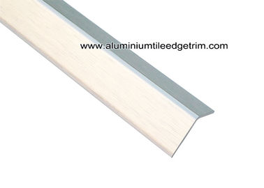 Brushed Silver Aluminum Metal Wall Edge Protector For Outside Corner