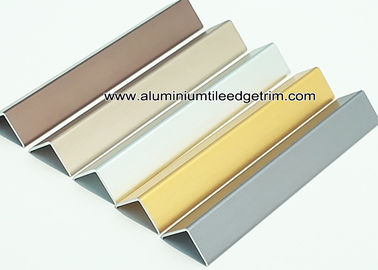 Durable Anodized Brushed Aluminium Corner Protectors For Walls 1.5mm Thickness