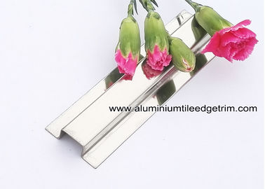 304 Stainless Steel Divider Trim / Bar For Wall Tile Dividing Decoration