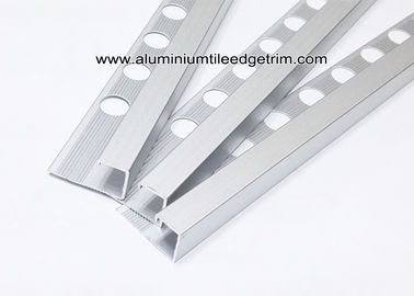 12mm Metal Box Edge Tile Corner Trim With Satin Matt Silver For Countertop