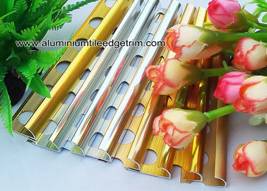 Colored Metal Quarter Round Tile Trim For Wall Corner / Ceramic Tile Edge Trim
