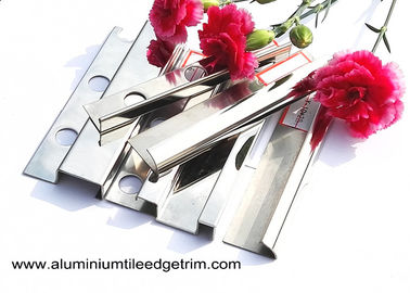 Anti - Scratch 10mm Stainless Steel Tile Trim With Square Edge / Metal Bullnose Corners
