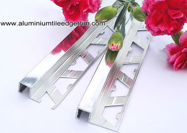 10mm Bathroom Polished Chrome Square Edge Tile Trim For Exterior Corner