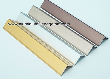 Decorative Drywall Aluminum Corner Guards With Brushed Effect 1.5mm Thickness