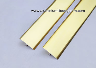 High End Aluminium T Bar Trim / Section Gloss Gold For Tile Edging Or Structure