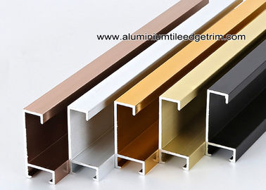 Metal Type Aluminium Wall Picture Frame Mouldings With Brushed Sides