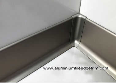 China Modern Euro 60mm / 80mm / 100mm Aluminium Skirting Board For Home / Hotel factory
