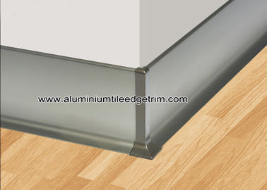 China Luxury Matt Champagne Aluminium Shadowline Skirting With 8cm Height factory