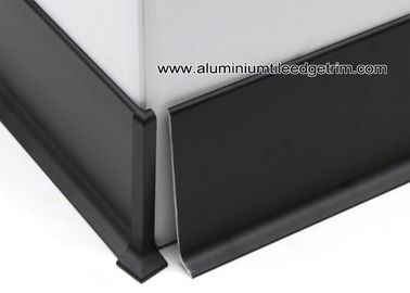 China Modular Matt Black Aluminium Coved / Wall Skirting With 10cm Height factory