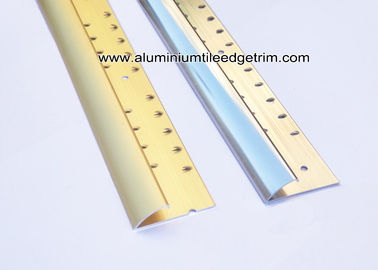 China Aluminium Curved Carpet Finishing Trim For Carpet To Ceramic Tile Transition factory