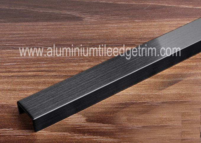 Brushed Stainless Steel Tile Trim , Stainless Steel Border Edge Tile Background Wall Decoration