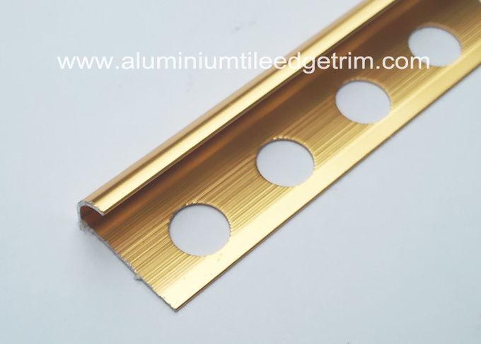 polished bronze aluminium tile trim 10mm