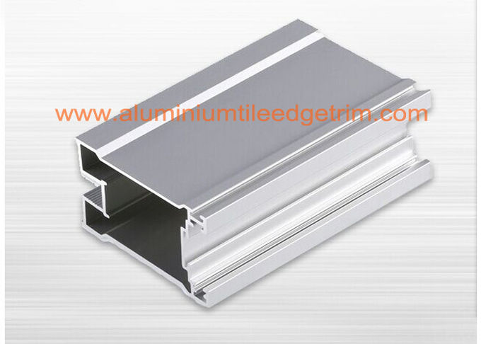 Satin Anodized Aluminium Window Profiles , Aluminium Extrusion Profiles For The Windows