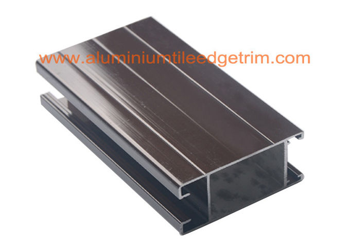 Hollow Powder Coated Aluminum Door Frame Extrusions For Building Project