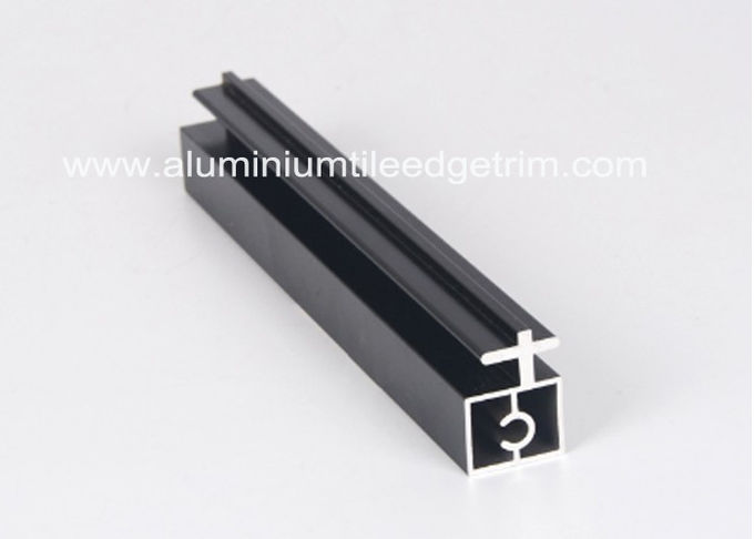 Black Anodized Extruded Aluminium Profiles Channel Irregularity Shape Long Durability
