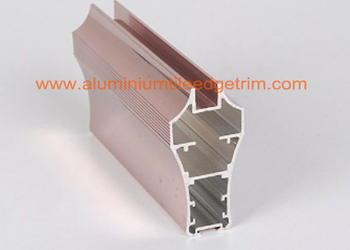 Metal Aluminium Channel Extrusions Copper Anodized Furniture Application 0